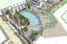 дизайн дома с бассейном в Google SketchUp